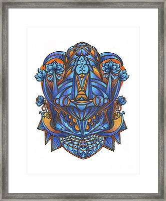 Lotus Bloom Framed Print by Sharon Andrews