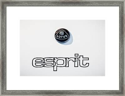 Lotus Esprit Emblem -0395c Framed Print by Jill Reger