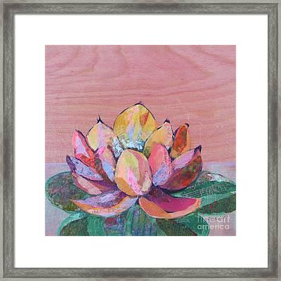 Lotus I Framed Print by Shadia Zayed