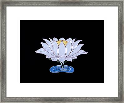 Lotus Framed Print by Leslie Rinchen-Wongmo