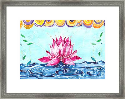 Lotus Lily Framed Print by Cat Athena Louise