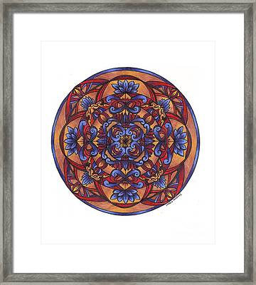Lotus Nightshade Framed Print by Sharon Andrews