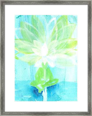 Lotus Petals Awakening Spirit Framed Print by Ashleigh Dyan Bayer