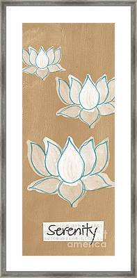 Lotus Serenity Framed Print by Linda Woods