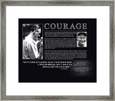 Lou Gehrig Courage  Framed Print by Retro Images Archive