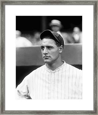 Lou Gehrig Looking Away Framed Print by Retro Images Archive