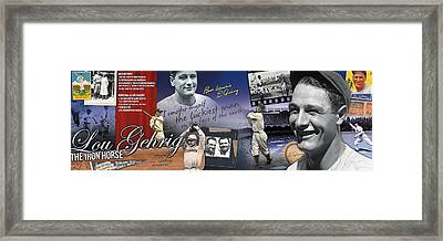 Lou Gehrig Panoramic Framed Print by Retro Images Archive