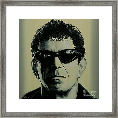 Lou Reed Painting Framed Print by Paul Meijering