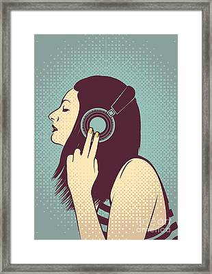 Loud Silence Framed Print by Freshinkstain