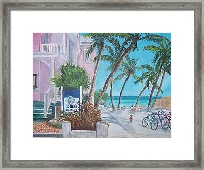 Louie's Backyard Framed Print by Linda Cabrera