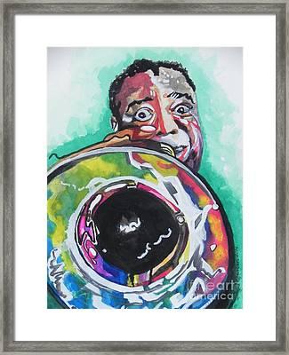 Louis Armstrong Framed Print by Chrisann Ellis