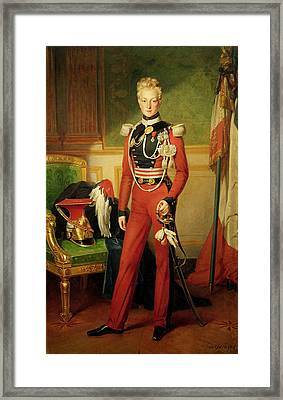 Louis-charles-philippe Of Orleans 1814-96 Duke Of Nemours, 1833 Oil On Canvas Framed Print by Anton van Ysendyck