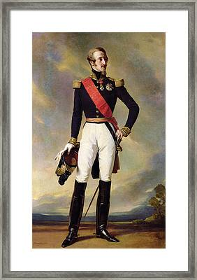 Louis-charles-philippe Of Orleans 1814-96 Duke Of Nemours, 1843 Oil On Canvas Framed Print by Franz Xaver Winterhalter