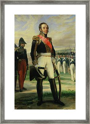 Louis-gabriel Suchet 1770-1826 Duke Of Albufera And Marshal Of France  Oil On Canvas Framed Print by Frederic Legrip