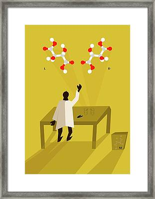 Louis Pasteur Framed Print by Ramon Andrade 3dciencia