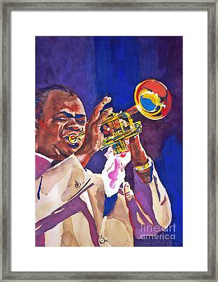 Louis Satchmo Armstrong Framed Print by David Lloyd Glover