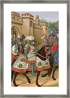 Louis Xii Leaving Alexandria Framed Print by Jean Marot