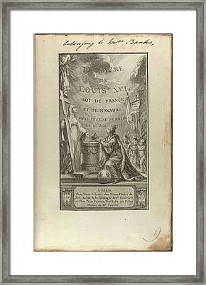 Louis Xvi Framed Print by British Library