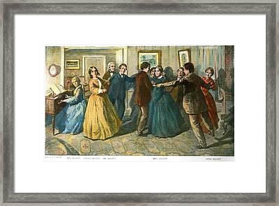 Louisa May Alcottand Her Family Framed Print by Granger