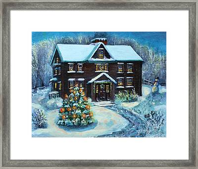 Louisa May Alcott's Christmas Framed Print by Rita Brown