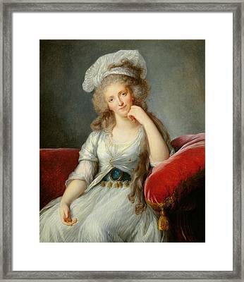 Louise-marie Adelaide, Duchesse Dorleans Oil On Canvas See Also 91622 Framed Print by Elisabeth Louise Vigee-Lebrun