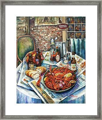 Louisiana Saturday Night - Acrylic On Canvas Framed Print by Dianne Parks