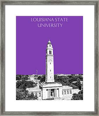 Louisiana State University - Memorial Tower - Purple Framed Print by DB Artist