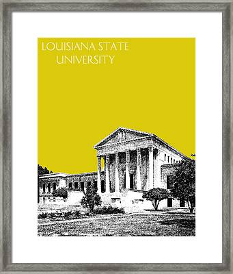 Louisiana State University 2 - Mustard Framed Print by DB Artist