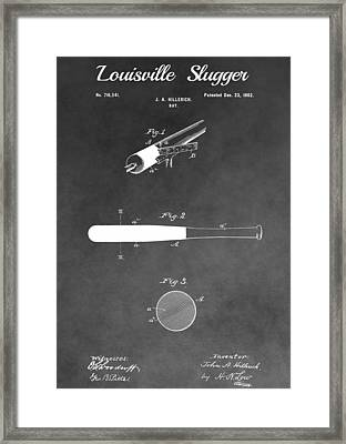 Louisville Slugger Baseball Bat Framed Print by Dan Sproul