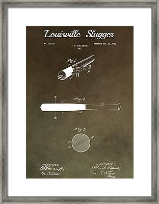 Louisville Slugger Patent Framed Print by Dan Sproul