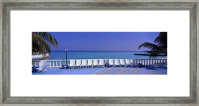 Lounge Chairs, Giraavaru, Maldives Framed Print by Panoramic Images