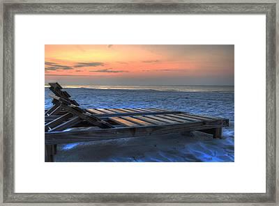 Lounge Closeup On Beach ... Framed Print by Michael Thomas
