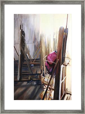 Louvre Closet Framed Print by Shelley Irish