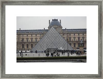 Louvre - Paris France - 011312 Framed Print by DC Photographer