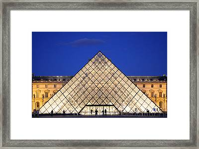 Louvre Pyramid Framed Print by Joanna Madloch