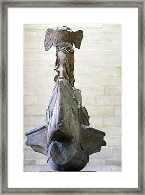 Louvre The Winged Victory Of Samothrace Framed Print by Samantha Ridgway
