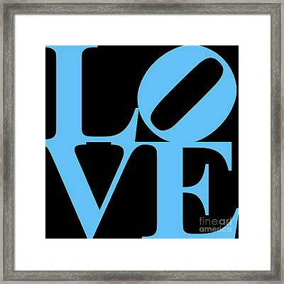 Love 20130707 Blue Black Framed Print by Wingsdomain Art and Photography