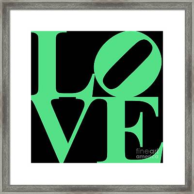Love 20130707 Green Black Framed Print by Wingsdomain Art and Photography