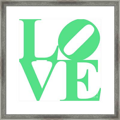 Love 20130707 Green White Framed Print by Wingsdomain Art and Photography