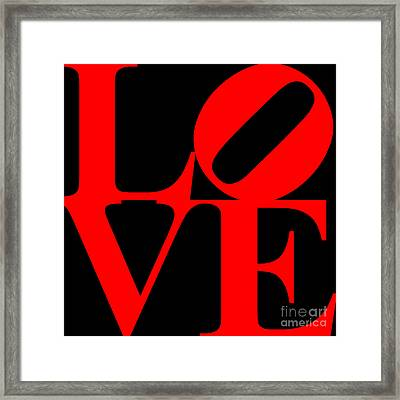 Love 20130707 Red Black Framed Print by Wingsdomain Art and Photography