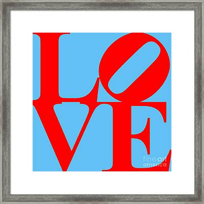 Love 20130707 Red Blue Framed Print by Wingsdomain Art and Photography