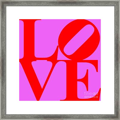 Love 20130707 Red Violet Framed Print by Wingsdomain Art and Photography