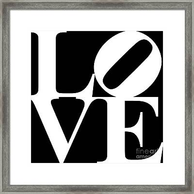 Love 20130707 White Black Framed Print by Wingsdomain Art and Photography