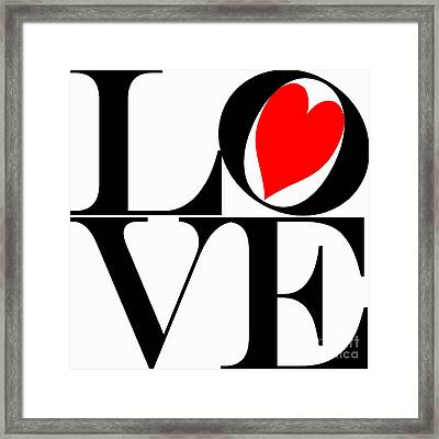 Love All Around Framed Print by Mariola Bitner