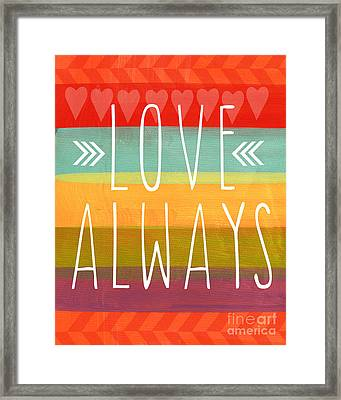 Love Always Framed Print by Linda Woods