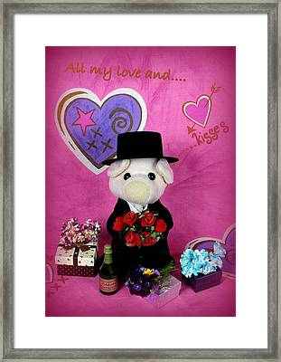 Love And Kisses Framed Print by Piggy