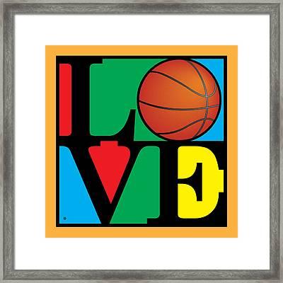 Love Basketball Framed Print by Gary Grayson