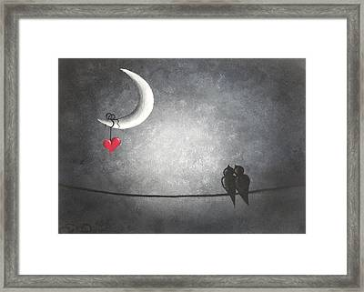 Love Birds Framed Print by Oddball Art Co by Lizzy Love