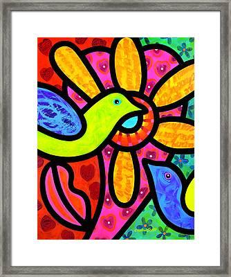 Love Birds Framed Print by Steven Scott