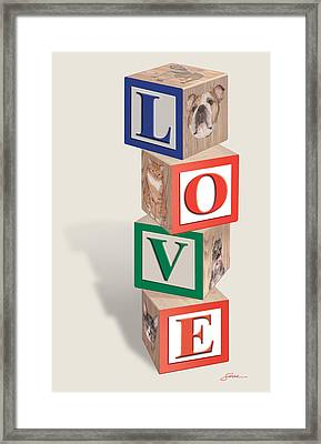 Love Blocks Framed Print by Harold Shull